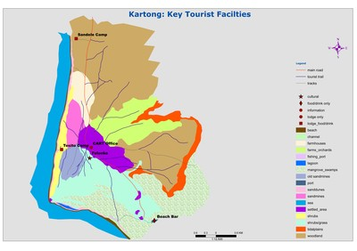 Gambia  kartong map Tourist facilities.jpg