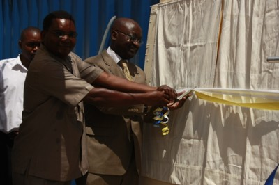 10. Formally unveiling the plaque to launch the water project.JPG