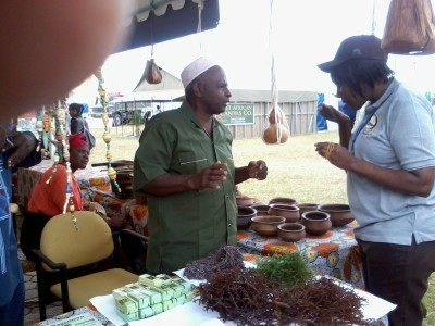 Seaweed farm from Bagamoyo with seaweed and its soap as product at the exihibition.jpg