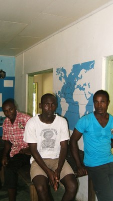 Community members of turtle conservation group, Ebodje.JPG